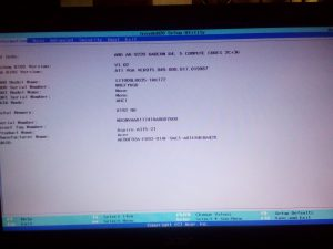 The setup utility page of my Acer laptop